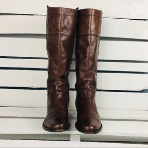 Harold's Brown Leather Side Zip Riding Boots 8N